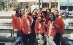 MIT AXO Boston Marathon Water Booth Volunteers, 1999
